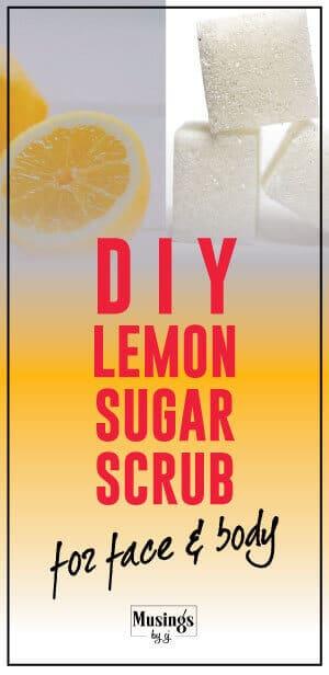 Lemon Sugar Scrum to get rid of Acne