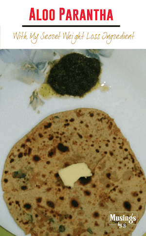 Aloo Parantha with Weight Loss Ingredient