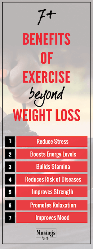 Benefits of Exercise beyond Weigh Loss