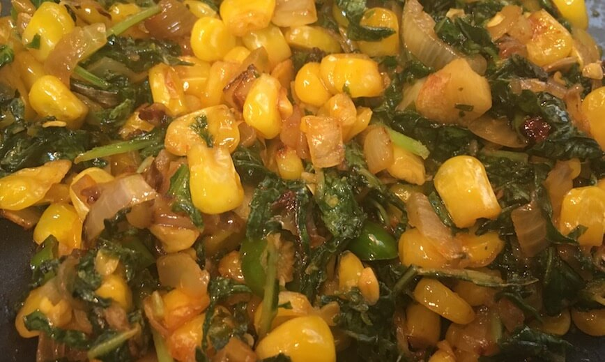 Corn Spinach Quesadilla Stuffing
