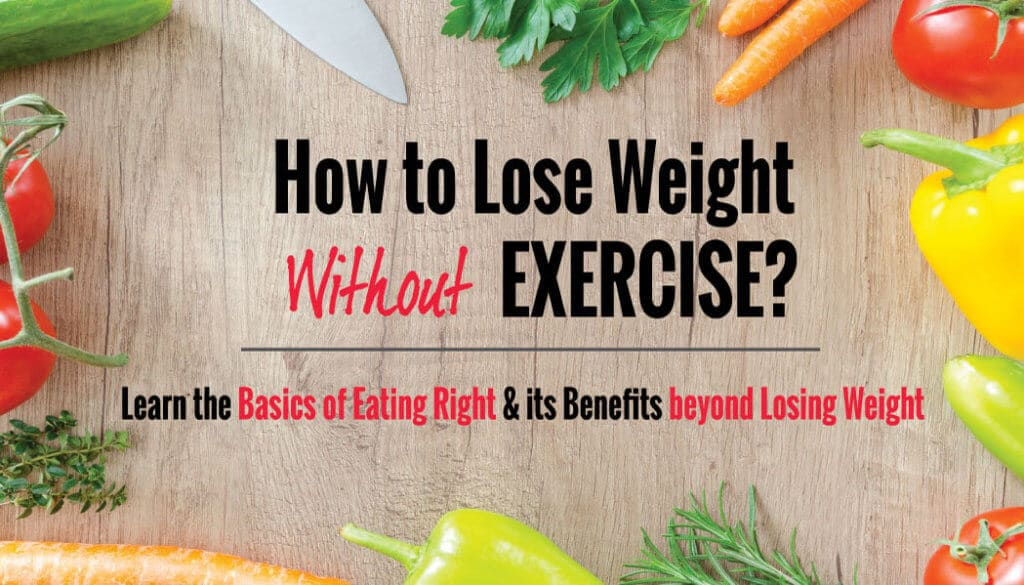How to Lose Weight without Exercising? Learn the Basics of Eating Right!