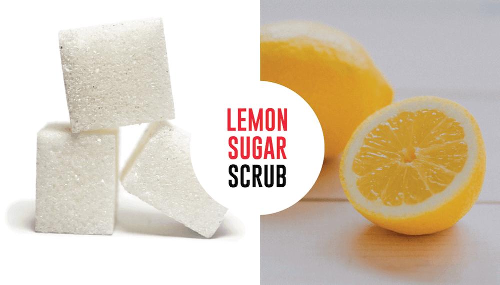 DIY Lemon Sugar Face (& Body) Scrub to get rid of Acne & Pimples