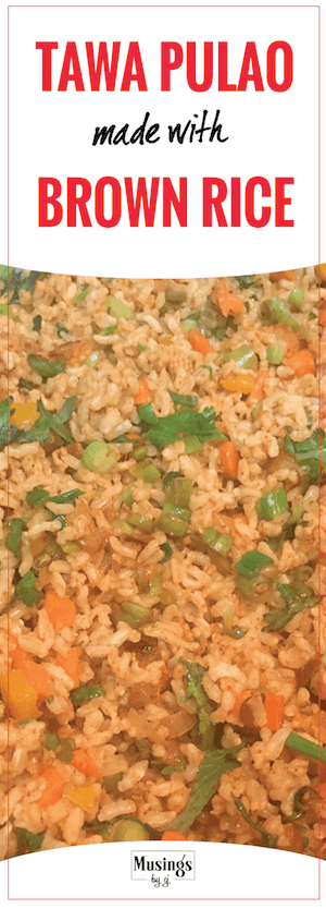 Tawa Brown Rice Recipe