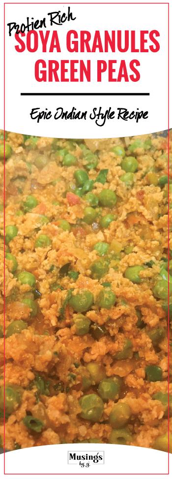 Dry Soya Granules & Green Peas Recipe
