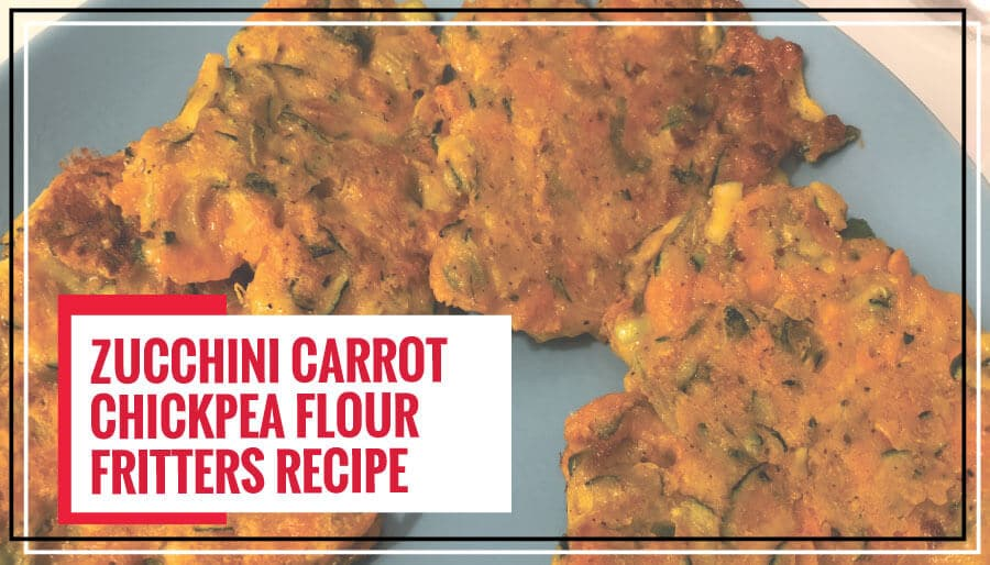 Healthy Zucchini Carrot Chickpea Flour Fritters | Tea-time Snack