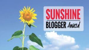 Nomination for The Sunshine Blogger Award
